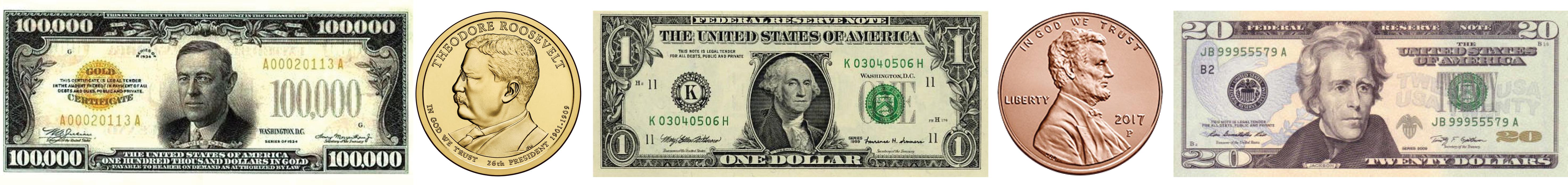 presidents on us paper money