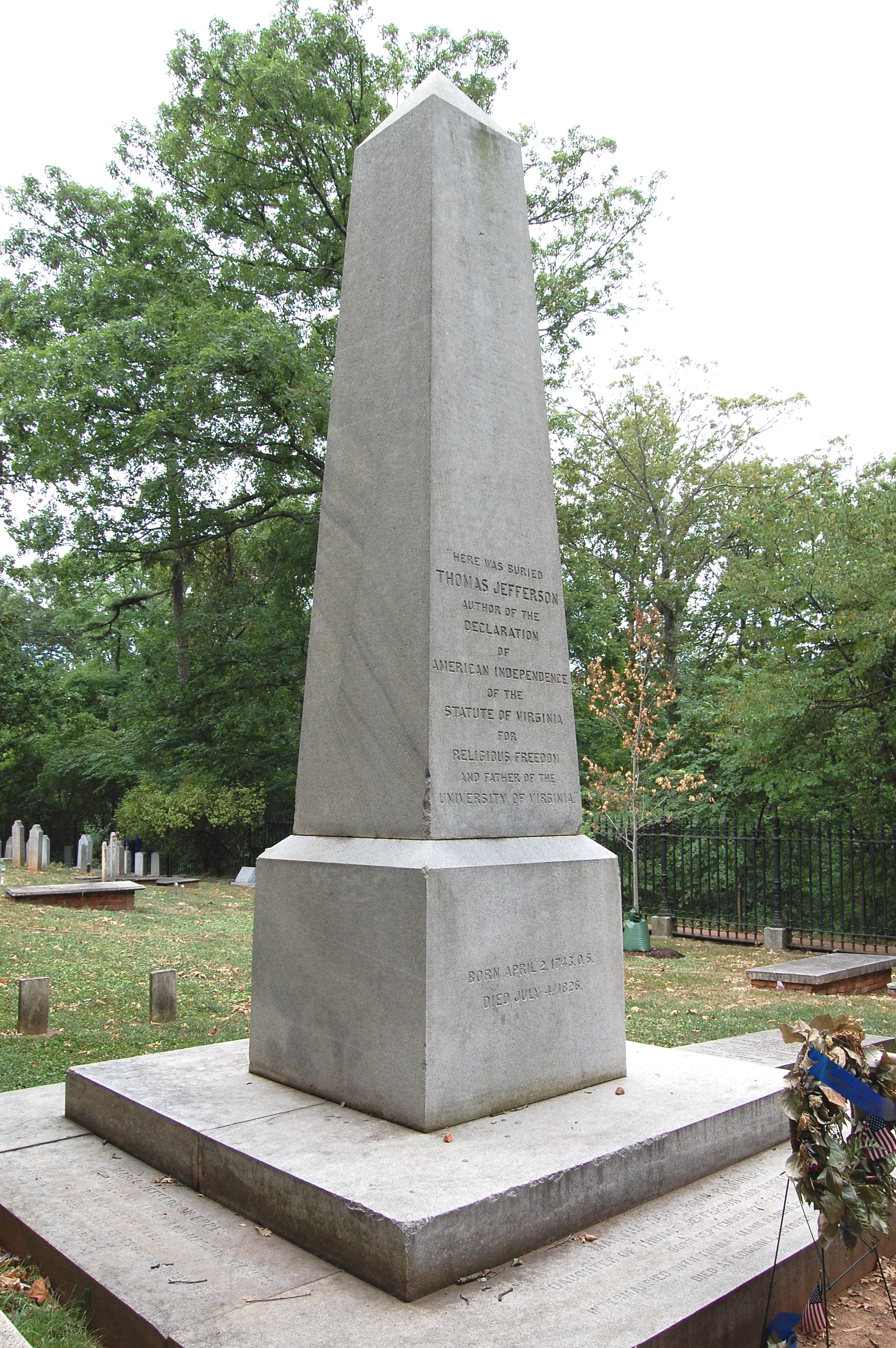 What Is Written On Thomas Jefferson S Gravestone The Periodic Table Of The Presidents
